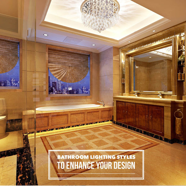 Bathroom lighting styles to enhance your design