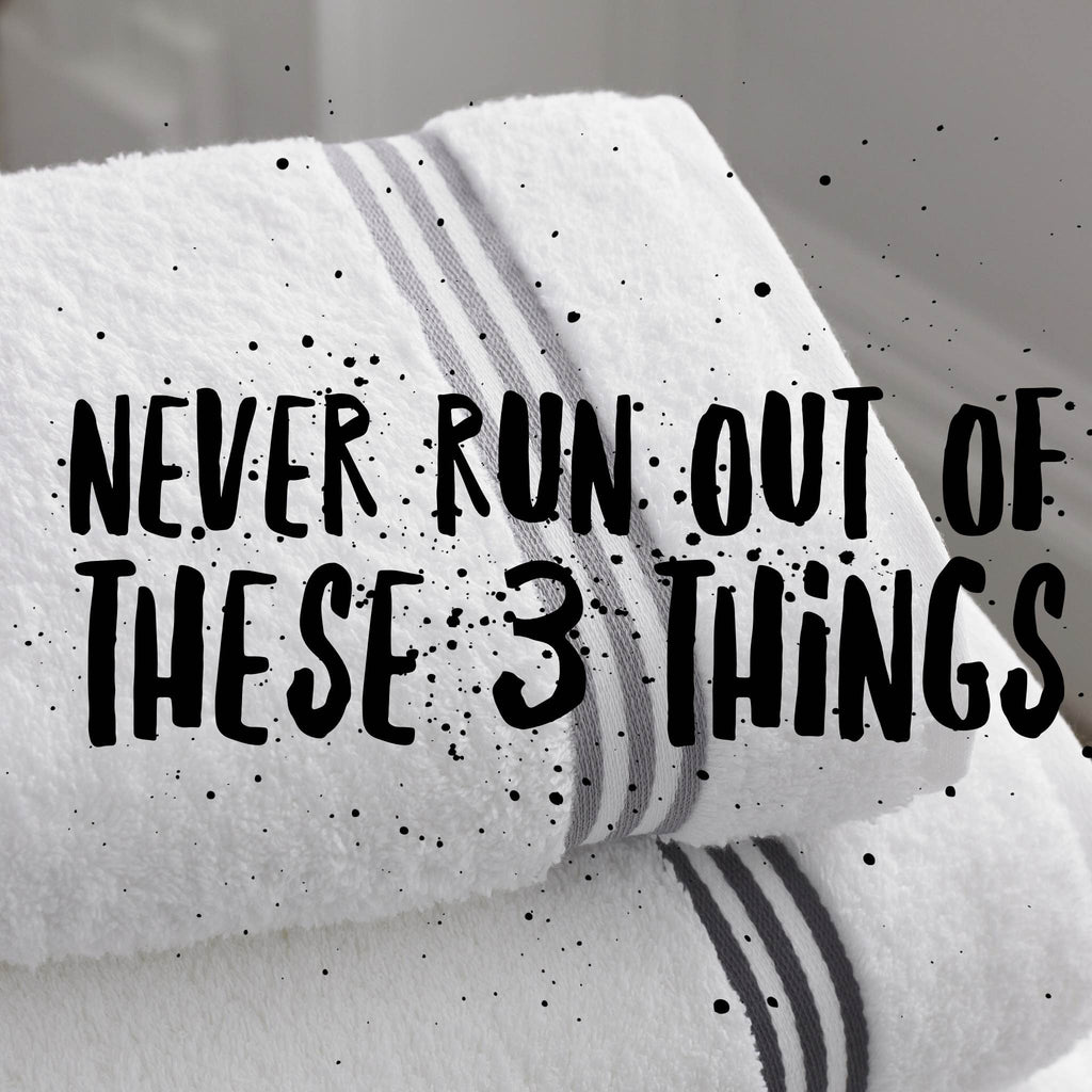 3 Bathroom items you should never run out of