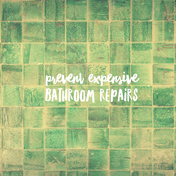 Three bathroom maintenance activities that'll prevent expensive repairs