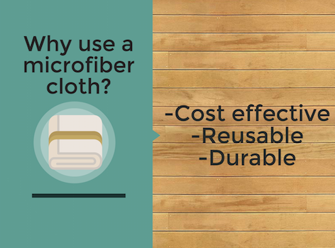 Infographic: Cleaning your bathroom with a microfiber cloth