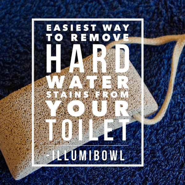 Easiest way to remove hard water stains from your toilet