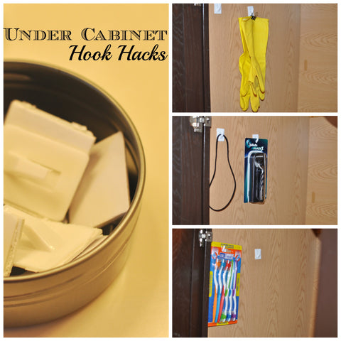 Cabinet hooks hack - Cleverly Changing