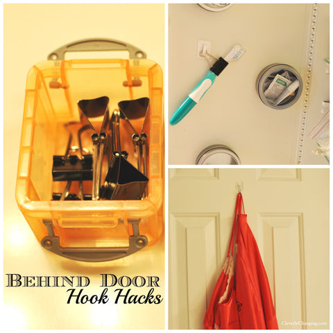 Behind the door hook hacks - Cleverly Changing