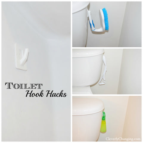 Toilet hook hacks - Cleverly Changing