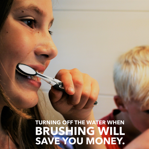 turning off the water when brushing your teeth will save you money