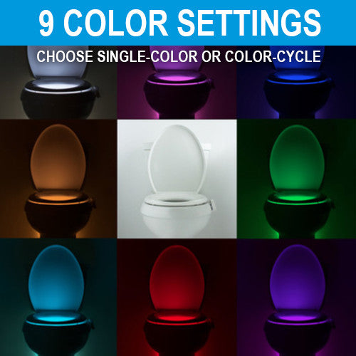 IllumiBowl Kohler GlowBowl Toilet Night Light sets to 8 colors or color cycle