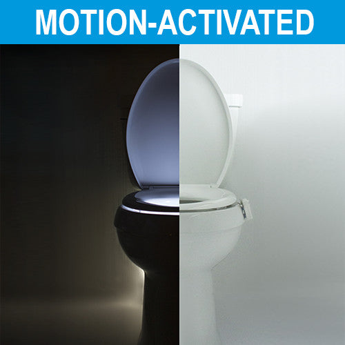 IllumiBowl Kohler GlowBowl Toilet Night Light is motion activated and only turns on in the dark