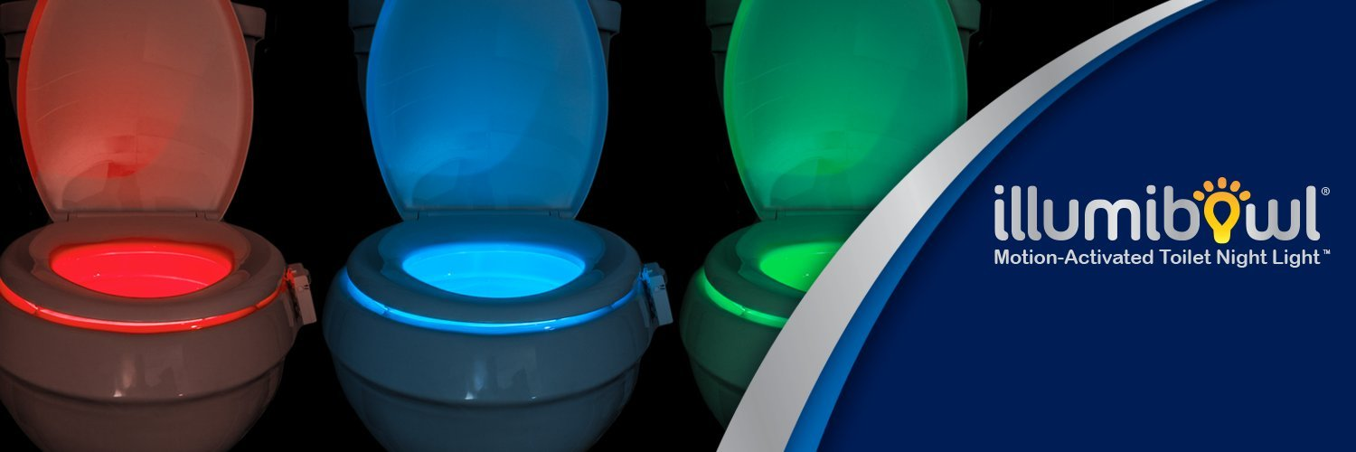 As Seen on Shark Tank IllumiBowl Bowl Light Toilet Night Light Shark Tank Kickstarter Motion Activated