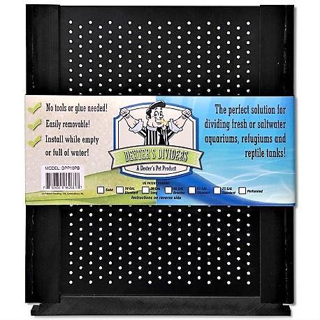 Aquarium Accessories 10 GAL Black Perforated Aquarium Divider - Dexter's