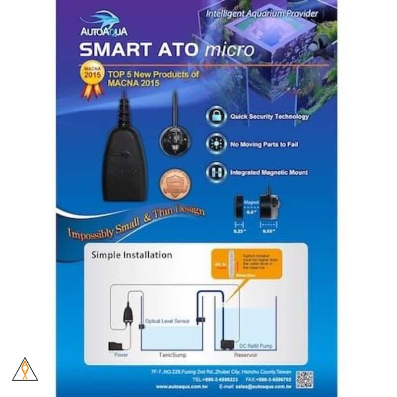 Automatic Top Off Smart ATO Micro Automatic Top Off System - AutoAqua