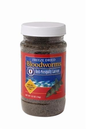 Freshwater Fish Food 0.5 oz (14 g) Freeze Dried Bloodworms - San Francisco Bay Brand