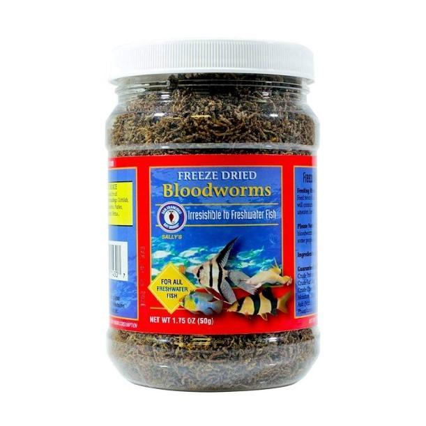 Freshwater Fish Food 1.75 oz (50 g) Freeze Dried Bloodworms - San Francisco Bay Brand