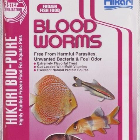 Frozen Aquarium Food Bio-Pure Frozen Blood Worms - Hikari