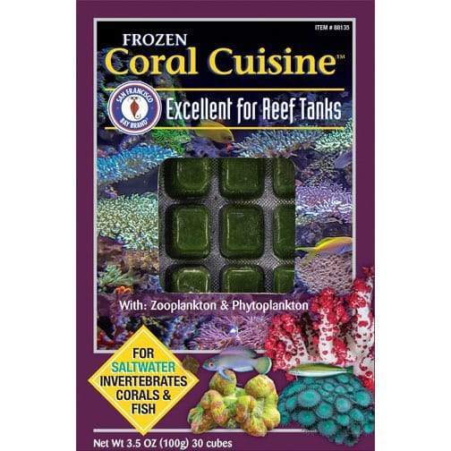 Frozen Aquarium Food Frozen Fish Food Coral Cuisine - San Francisco Bay Brand