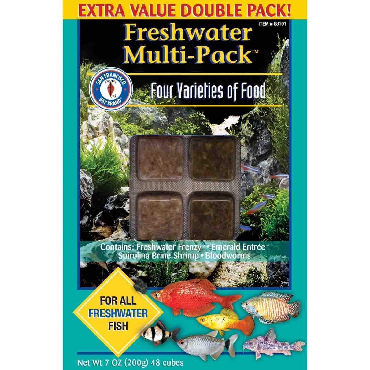 Frozen Aquarium Food Frozen Fish Food Freshwater Multipack - San Francisco Bay Brand