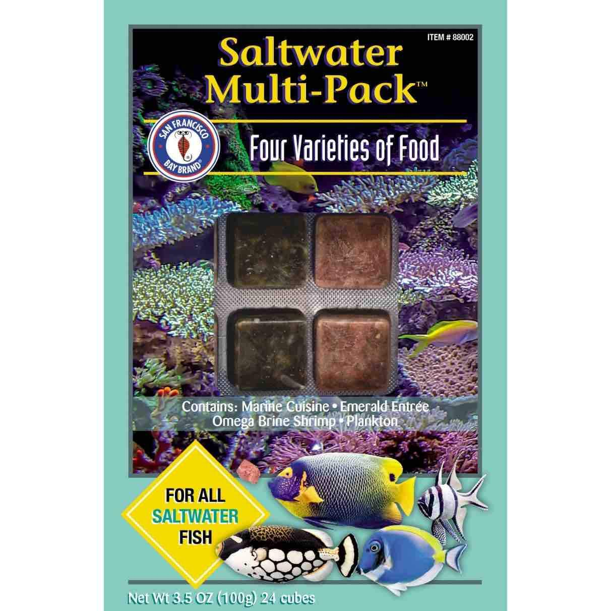 Frozen Aquarium Food Frozen Fish Food Saltwater Multipack - San Francisco Bay Brand