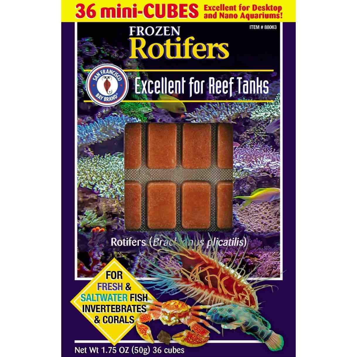 Frozen Aquarium Food Frozen Rotifers - San Francisco Bay Brand