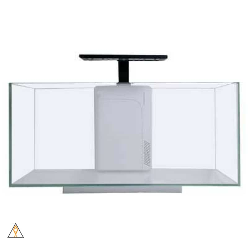 Rimless Aquarium 10G Flat Panel Peninsula with 9W LED JBJ Rimless Desktop Aquarium