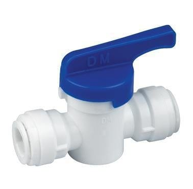 "Push-Fit Plastic Valve 1/4"" Push-Fit Plastic Valve - ALA"