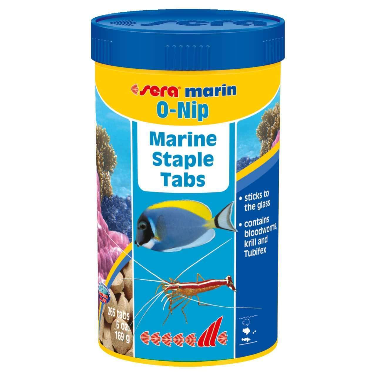 Saltwater Fish Food Tabs O-Nip Marine Staple Tabs - Sera