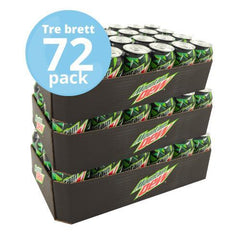 Tre brett Mountain dew 72 x 33cl