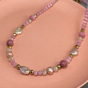 Pink Gems Necklace