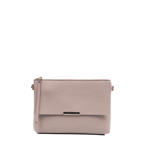 Smooth Pebble Leather Crossbody/Clutch