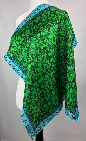 Emerald green Silk Twill Scarf for Women