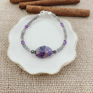 Purple Gem Bracelet