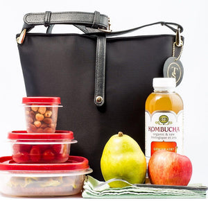 Think Stunning Fashionable Lunch Bag for Women, Black