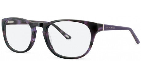 cm9025 cocoa mint, chic and contemporary in purple tortoiseshell