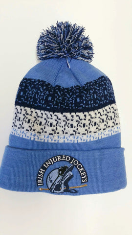 Bobble hat navy/ New blue / White