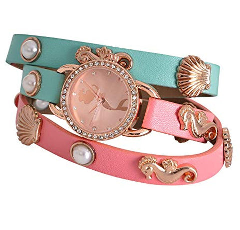 The Little Mermaid Wrap Around 3D Charm Watch
