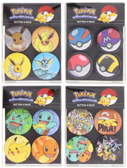 Pokemon Four Pack Buttons