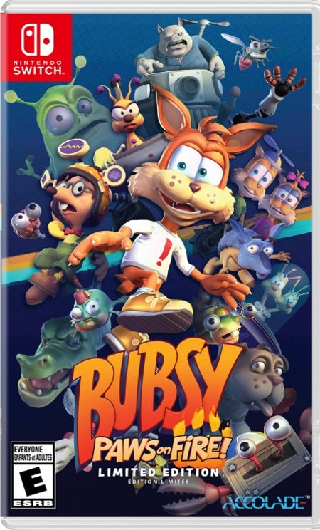 Bubsy Paws On Fire ! Limited Edition NSW front cover