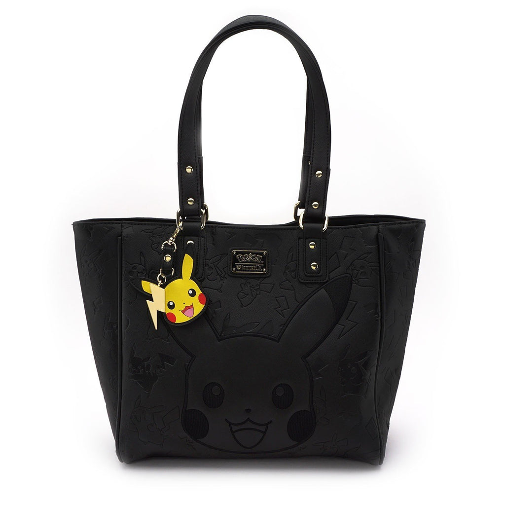 Pokemon Pikachu Black Embossed Tote by Lounglefly