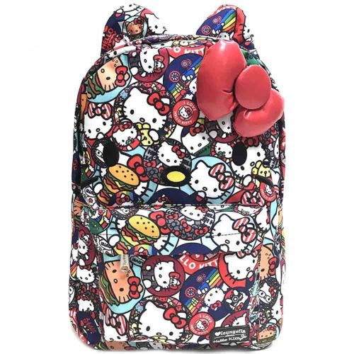 Hello Kitty Button AOP Backpack Multi