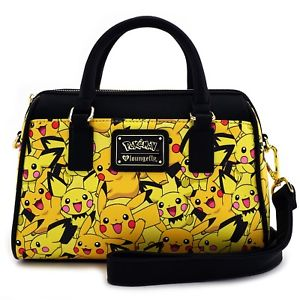 Pokemon Pikachu And Pichu All Over Print Mini Duffle Bag by Lounglefly
