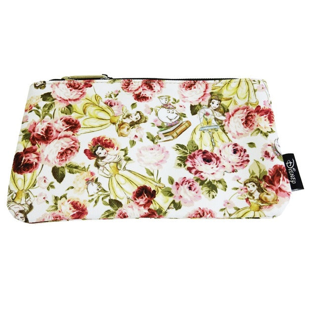 Disney Belle Floral Cosmetic Bag by Lounglefly
