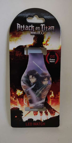 Attack on Titan Levi and Eren LED Watch