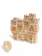 BIG FAMILY SOLID WOOD  CATS (6 PCS)