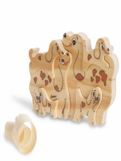 BIG FAMILY SOLID WOOD  DOGS (6 PCS)