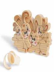 BIG FAMILY SOLID WOOD  RABBITS (4 PCS)