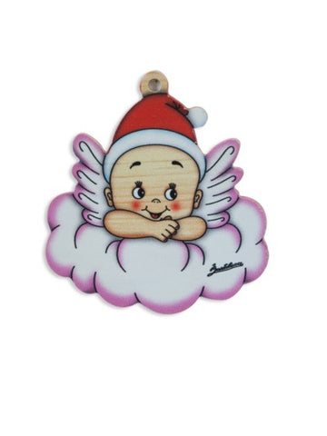 Bartolucci Christmas Decoration Pink Cloud Angel