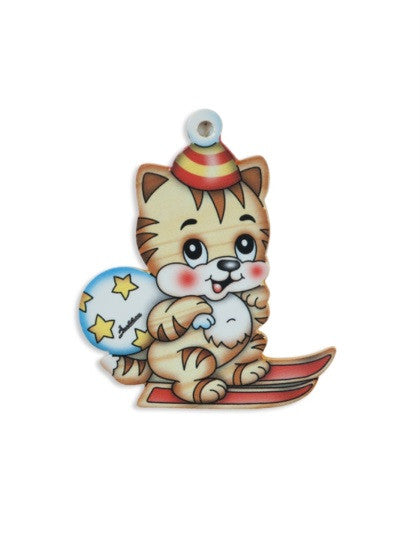 Bartolucci Christmas Decoration Skier Cat