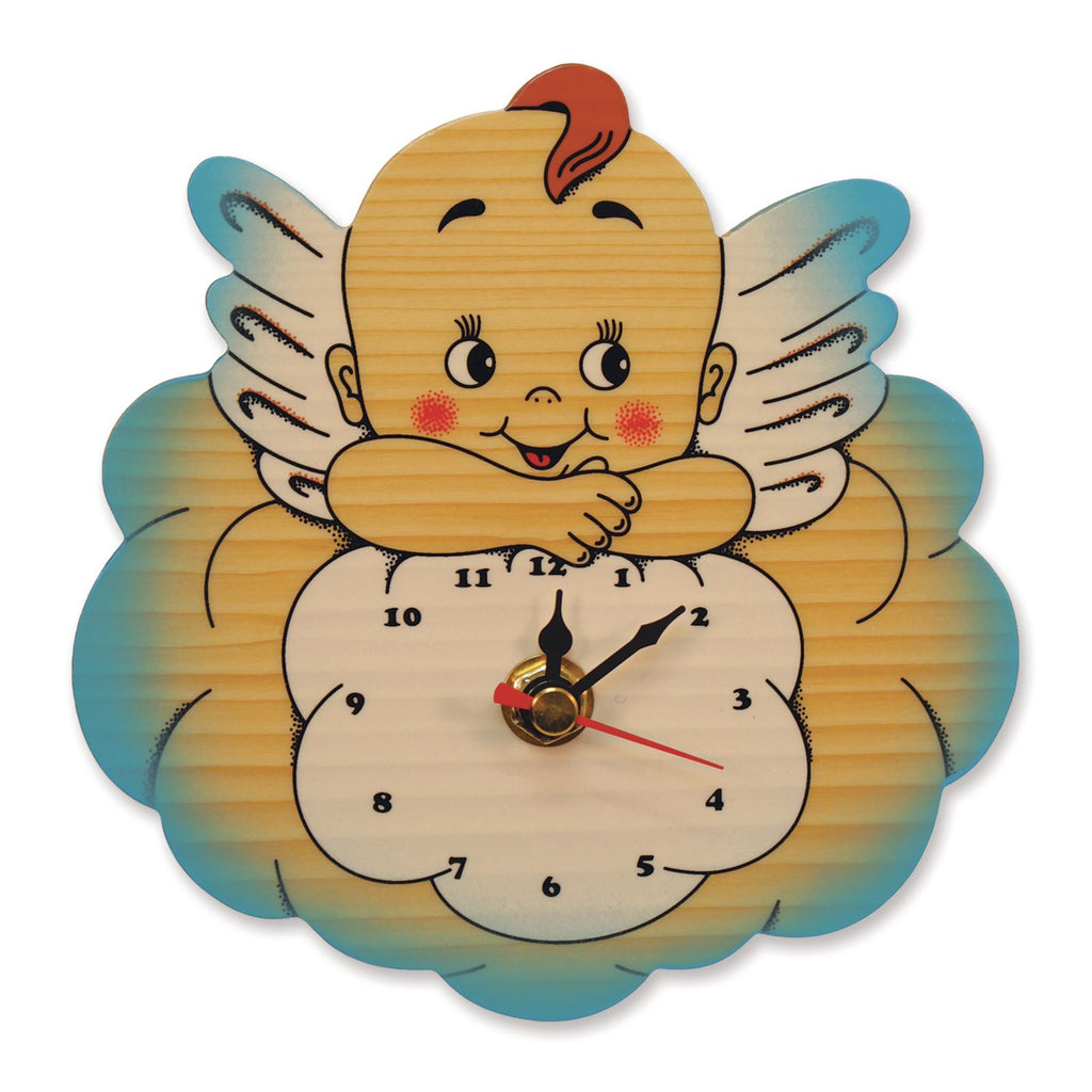 Bartolucci CLOCK BLUE CLOUD ANGELS
