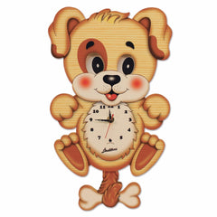 Bartolucci Clock Moving eyes w. Pend. Dog