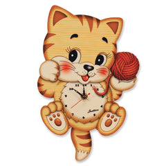 Bartolucci Clock Cat with Ball std