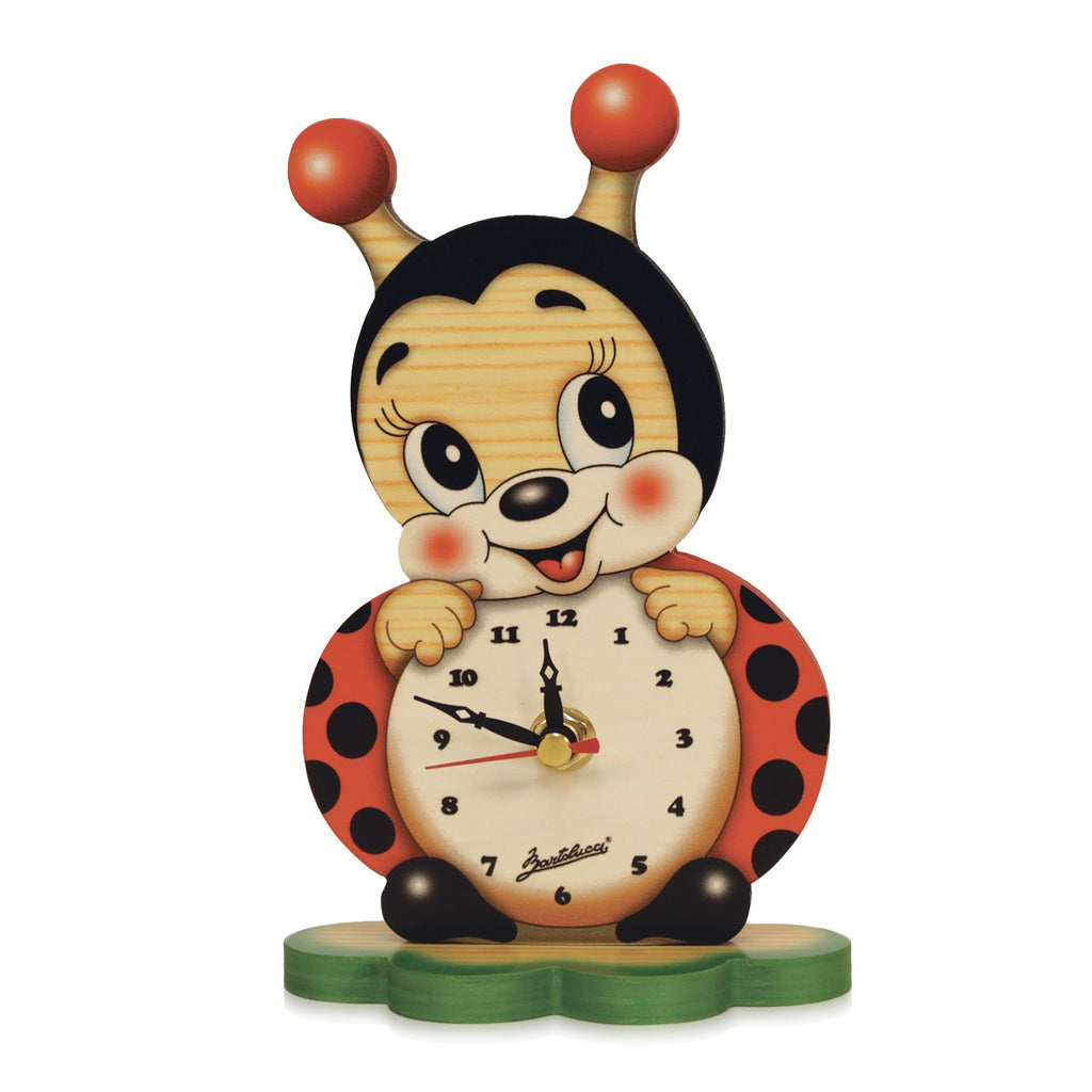 Bartolucci Clock Table Ladybird
