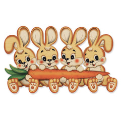 Bartolucci Clothes hanger four Rabbits